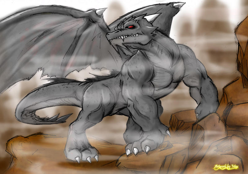 Image of a werewolf dragon
