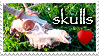 SKULLS LOVE STAMP by KigerwolfRD