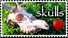 SKULLS LOVE STAMP by KigerwolfRD