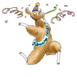 birthday llama for OhLizz : D