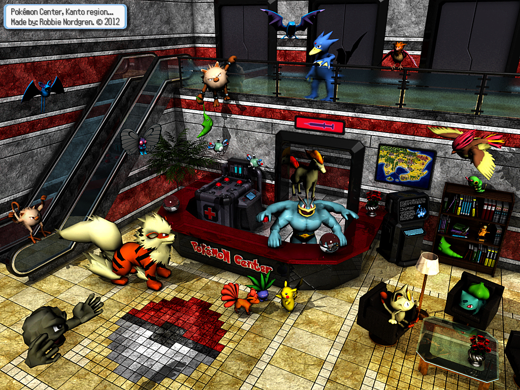 Pokemon Center 3D - Kanto Region by robbienordgren