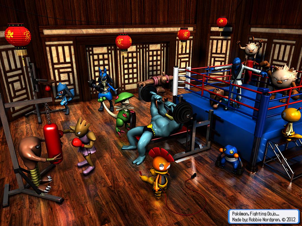 Pokemon 3D - Fighting Dojo by robbienordgren