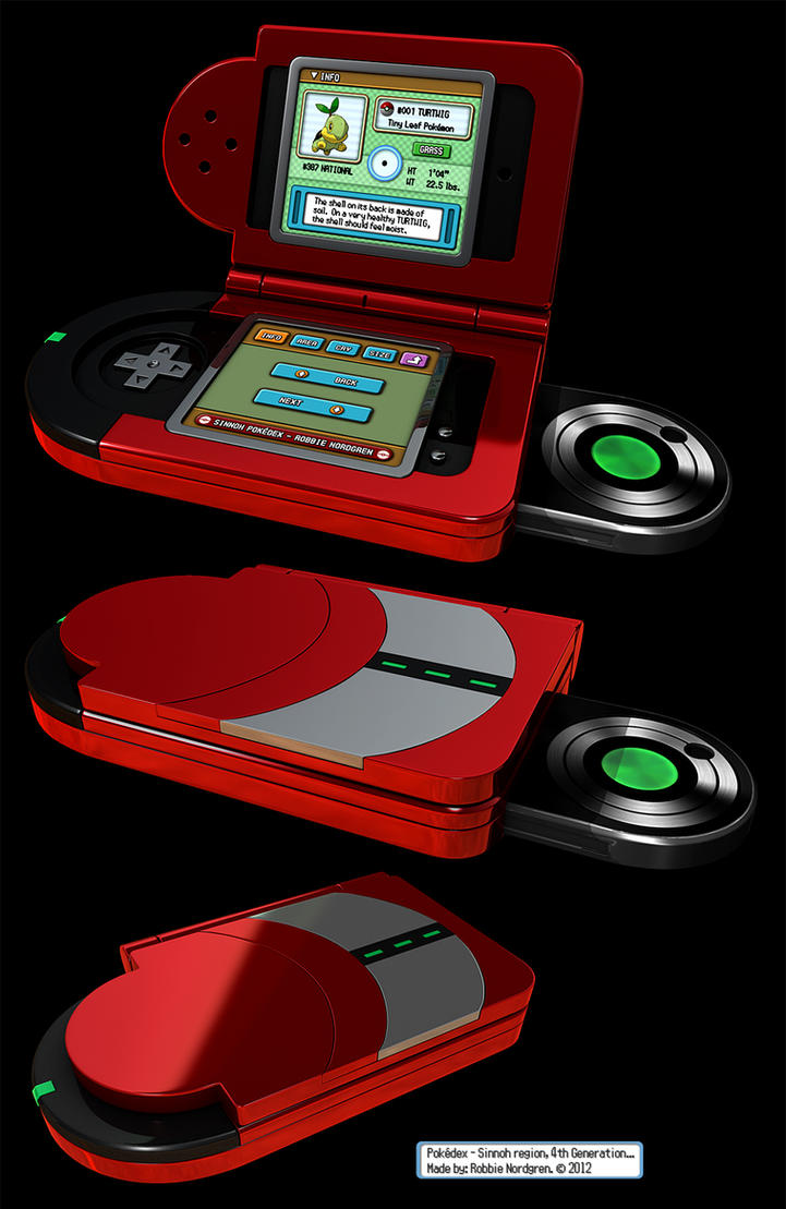 Pokedex 3d Sinnoh 4th Generation By Robbienordgren On Deviantart