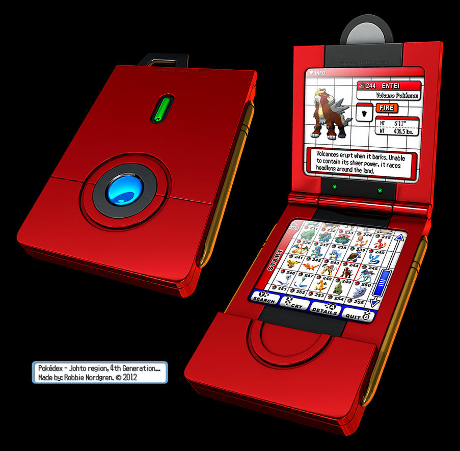 Pokedex 3D - Johto, 4th Generation by robbienordgren