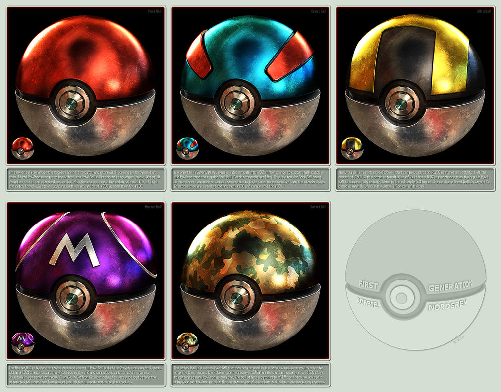 Pokeballs 3D - 1st Generation by robbienordgren