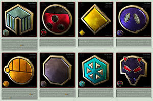 Pokemon Gym Badges 3D - Johto League by robbienordgren