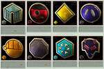 Pokemon Gym Badges 3D - Johto League