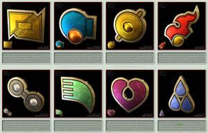 Pokemon Gym Badges 3D - Hoenn League by robbienordgren