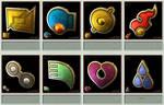 Pokemon Gym Badges 3D - Hoenn League