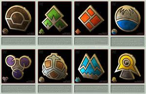 Pokemon Gym Badges 3D - Sinnoh League by robbienordgren