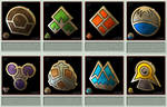Pokemon Gym Badges 3D - Sinnoh League