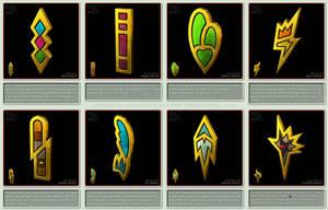 Pokemon Gym Badges 3D - Unova, Black and White by robbienordgren