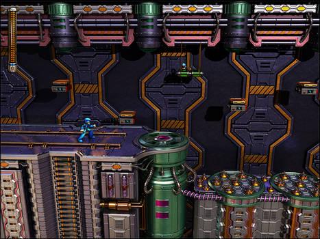 GA-HQ Art Contest: MegaMan 7 3D, Wily's Castle Lv3