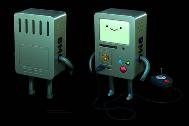 Adventure Time - BMO 3D by robbienordgren