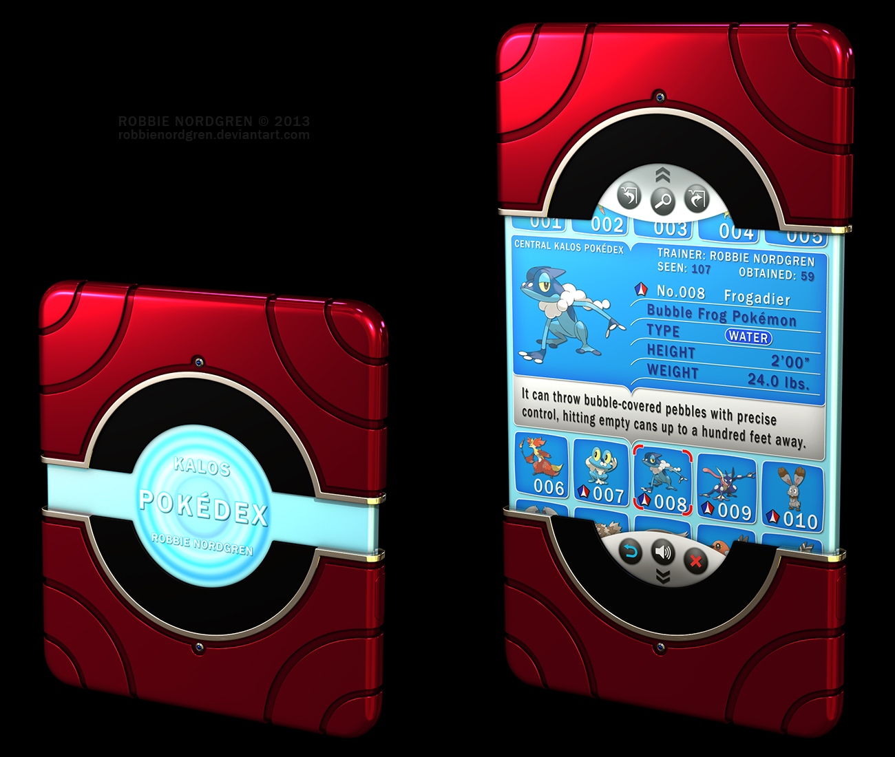 Kalos Pokedex 3D, Pokemon X Y, 6th Generation by ...