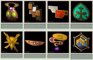 Pokemon Gym Badges 3D - Kalos League by robbienordgren