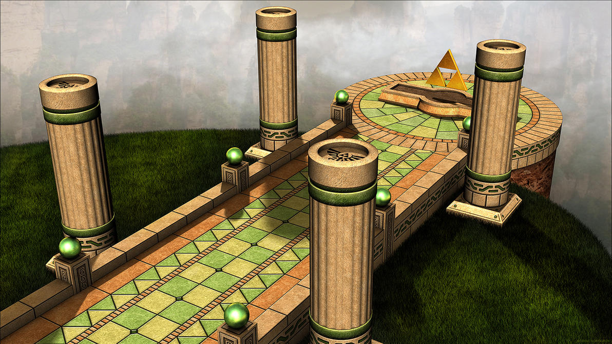 Zelda, A Link Between Worlds - 3D Environment by robbienordgren