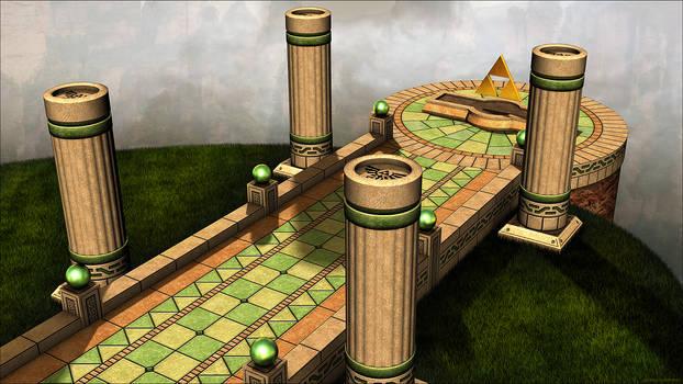 Zelda, A Link Between Worlds - 3D Environment