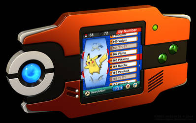 Hoenn Pokedex 3D, Omega Ruby and Alpha Sapphire by robbienordgren