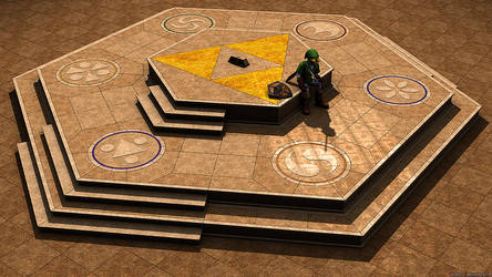 Temple of Time 3D - Zelda, Ocarina of Time by robbienordgren