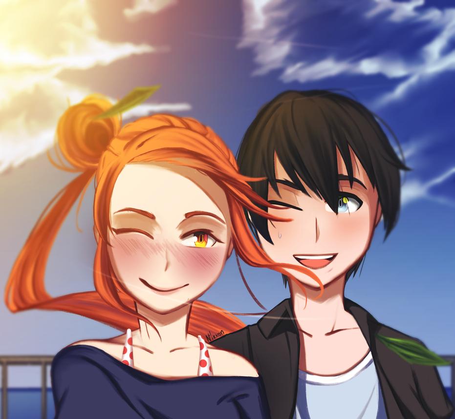 Date | Osana and Taro by Nikkonh