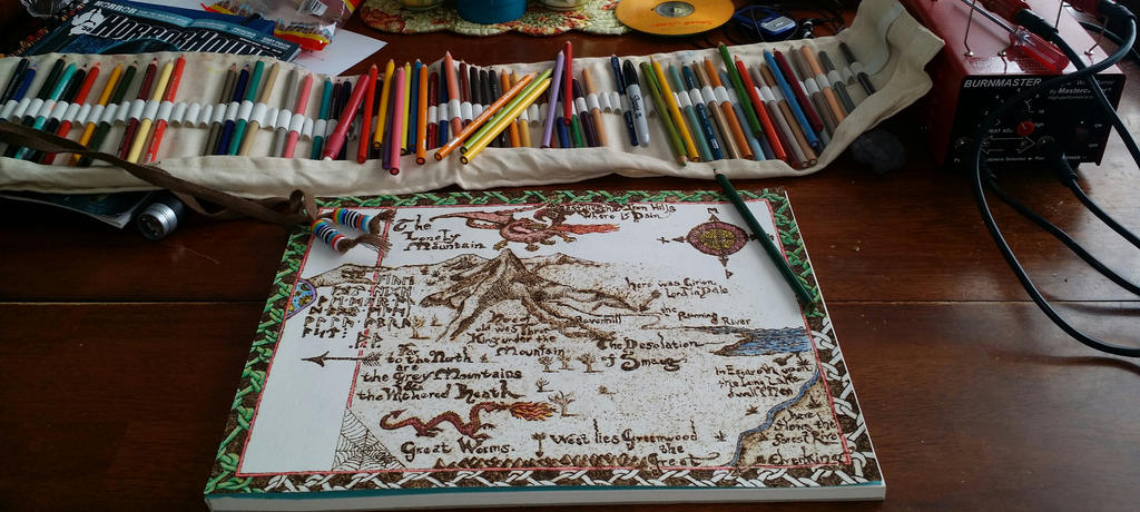 Map from the Hobbit by cootsmeister