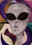 Grey Alien in Colour by DanaVarahi
