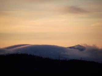 Sunset Mist and Mountian by DanaVarahi