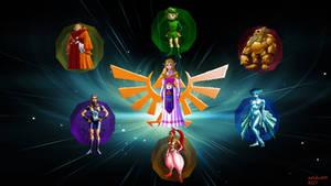 Legend of zelda OOT 7 Sages Wallpaper by adchv09