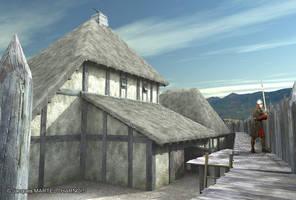 Year 1000, Charavines village. by LaHorde