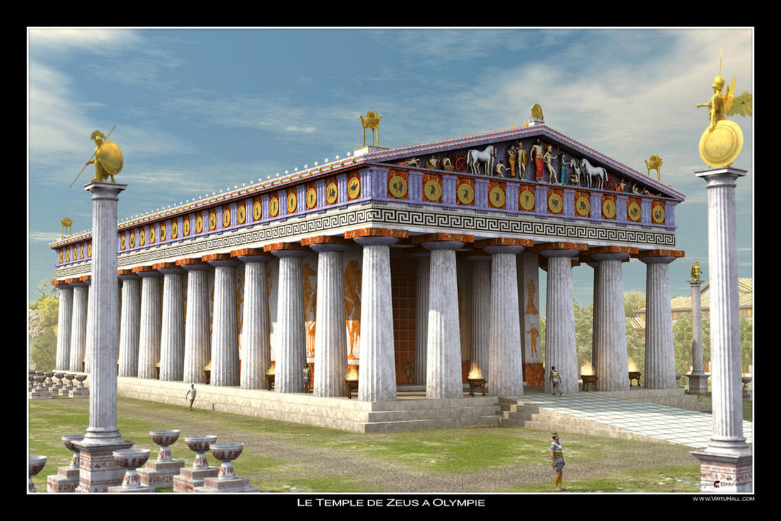 the zeus temple at olympia by lahorde on the zeus temple at olympia by lahorde