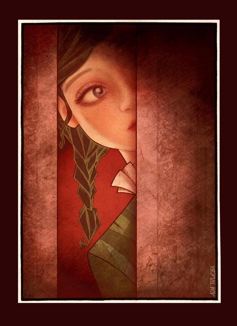 Book Illustration #1: Mme. Crowl's Ghost by AdaTrueba