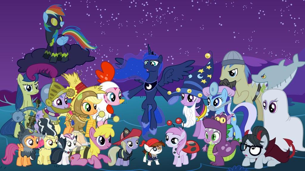 Imagens e Fan arts da Serie My_little_pony_halloween_by_juanq22-d9kqu4j