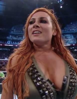 Lynch boobs becky WWE star