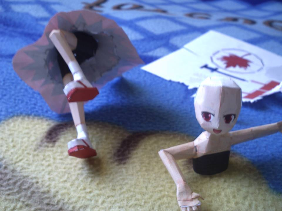 model momizi inubashiri papercraft touhou by santanaknifeloid