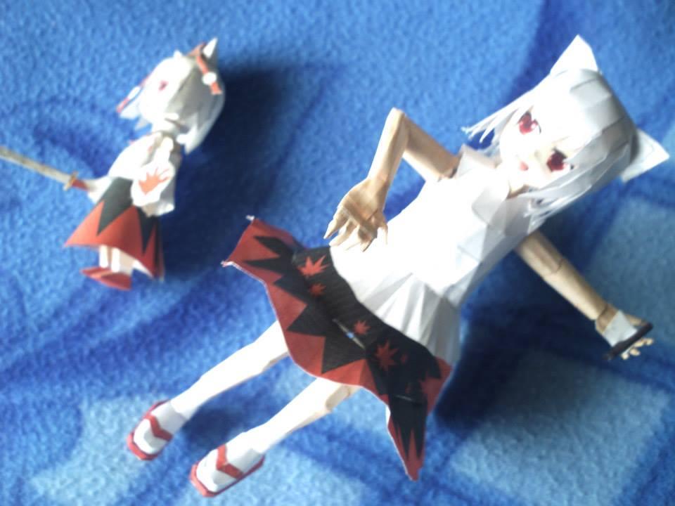 momizi inubashiri touhou project papercraft by santanaknifeloid