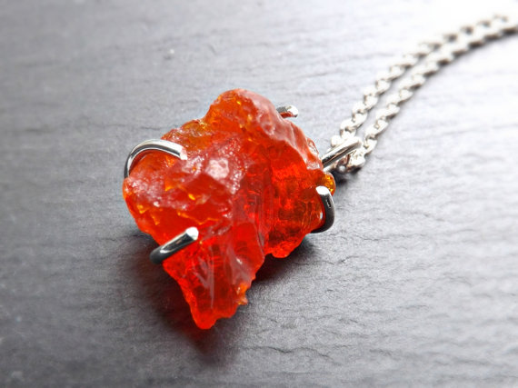Rough fire opal necklace by siihraya on deviantart rough fire opal necklace by siihraya aloadofball Choice Image