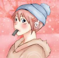 Kagura in Winter by xXWhitePhoenix