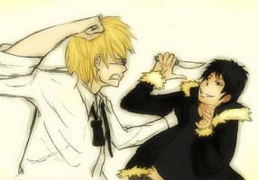 Shizu and Iza sketch by xXWhitePhoenix