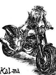 Unholy ghost on Motorcycle by ComaKoma