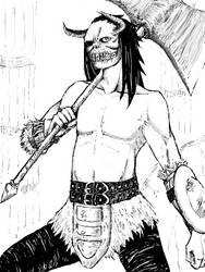 Hornhead Warrior by ComaKoma