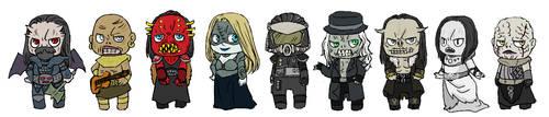 Deformed Nine Monsters by ComaKoma