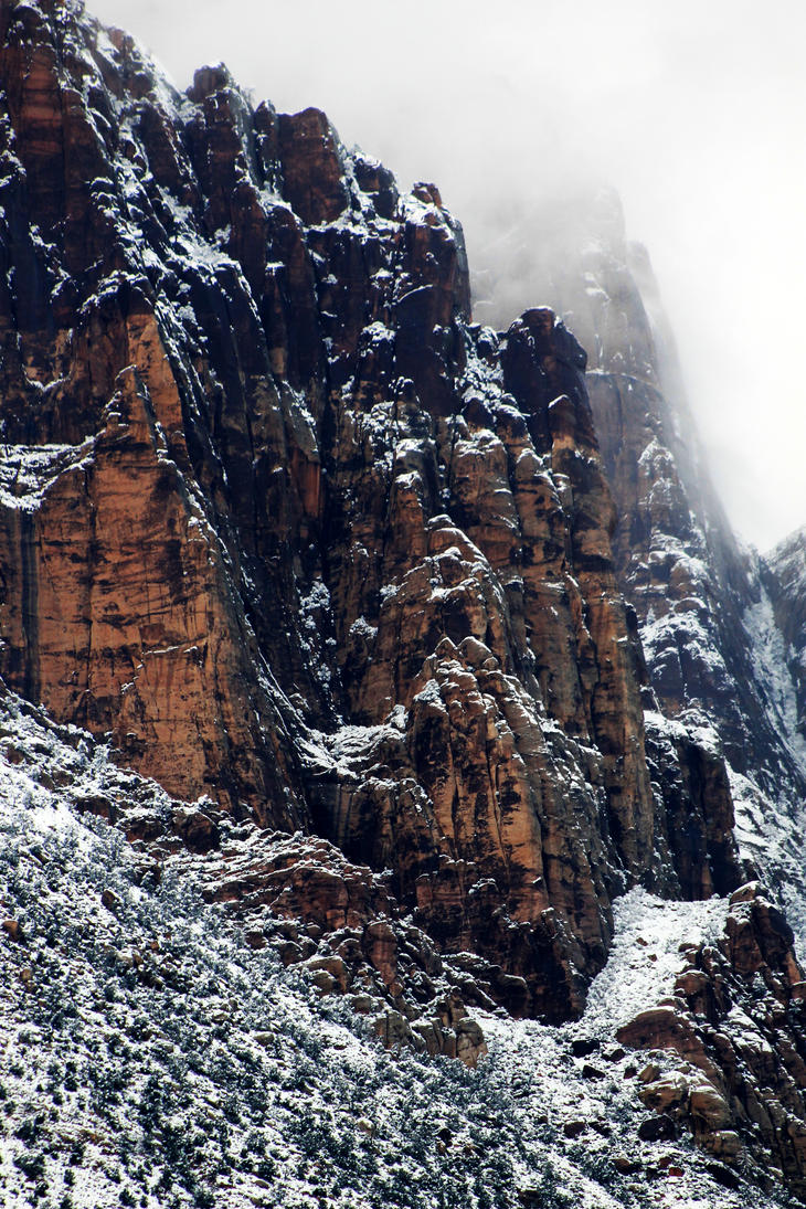 The Snowy Day at Red Rock by I-Heart-Photos