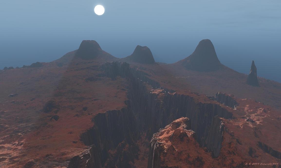 Blue sunset on mars by gigantor on deviantart - Mars sunset wallpaper ...