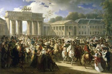 Napoleon Triumphantly Enters Berlin