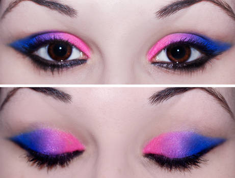 Simple Bubblegum Blended Eyes by KatieAlves