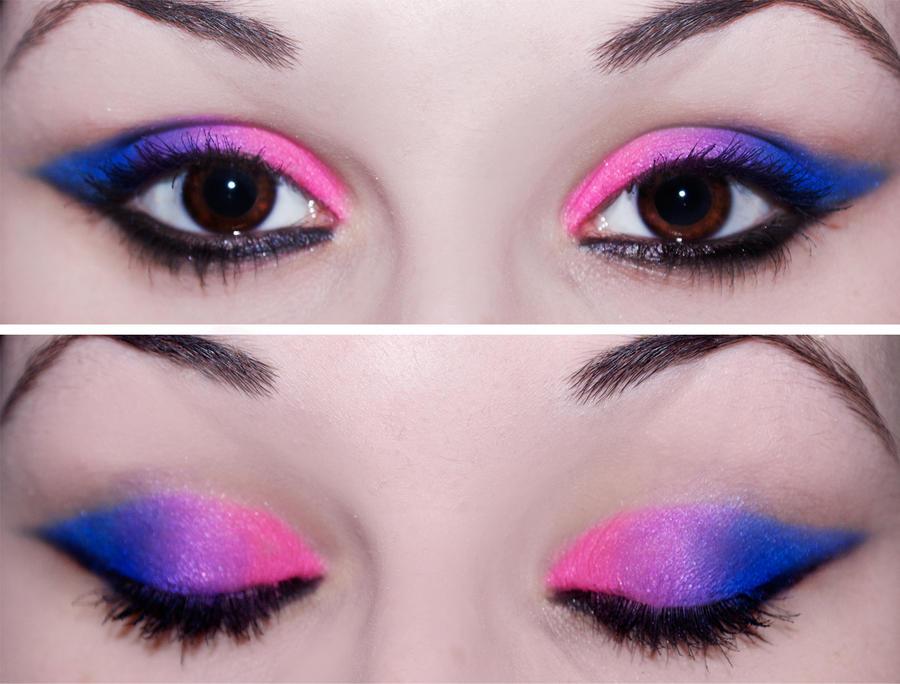Simple Bubblegum Blended Eyes by KatieAlves