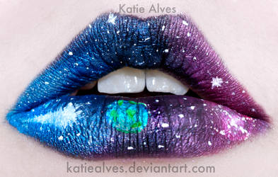 Outer Space Lips by KatieAlves