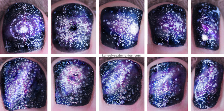 Space Nails by KatieAlves
