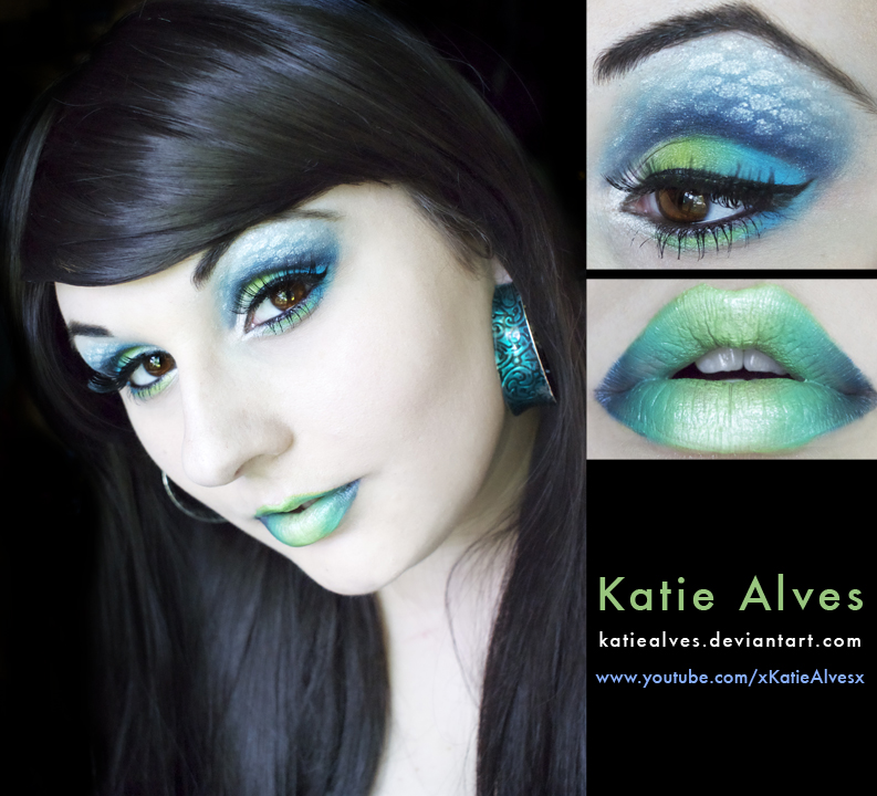 Aqua: Mermaid Inspired Makeup by KatieAlves